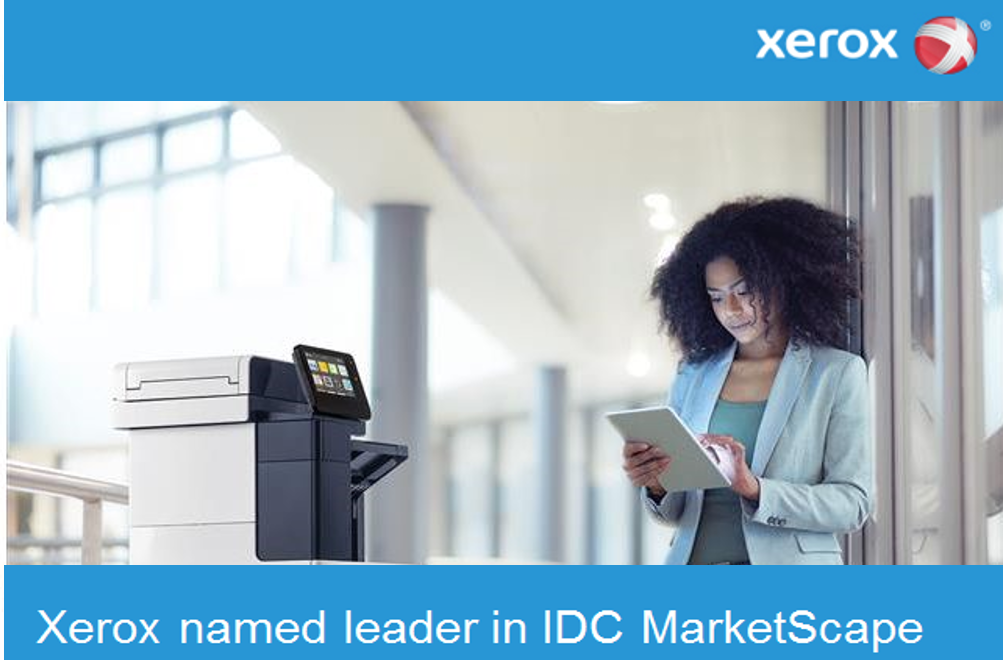 Xerox named leader in IDC MarketScape